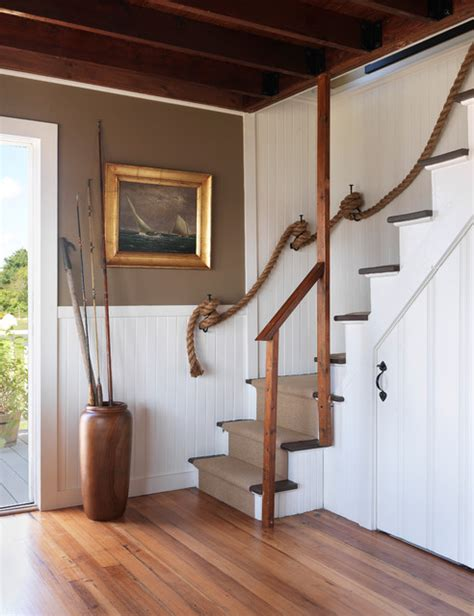 Cottage Staircase by Coastal Cottage Style Staircase Providence
