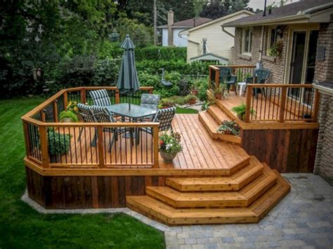 Patio Decks Designs Pictures with Cool Backyard Deck Design Idea 19 Backyard Deck Designs Deck Design And Decking