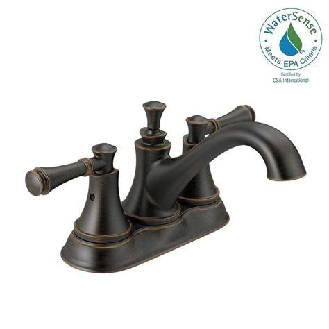 Delta Silverton Faucet by Delta Silverton 4 In Centerset 2 Handle Bathroom Faucet
