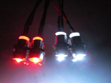 led light without battery rc led light kit 2 white 5mm 2 red 5mm pre wired 12 volt