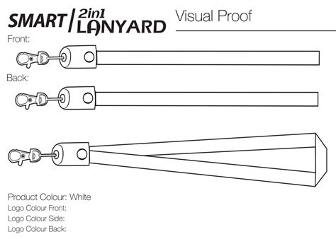 Smart 2 In 1 Lanyard Will International Lanyard Size Template