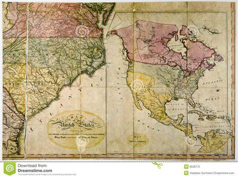 antique map  united states   stock image image
