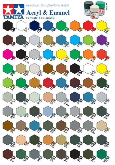 каталог цветов tamiya tamiya каталоги красок