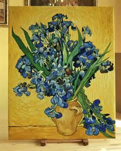 Vincent Van Gogh Vase Van Gogh Vaso Con Iris Line Quadri Dipinti Copie