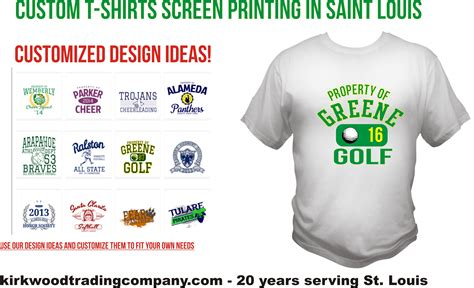 t shirt design templates st lous kirkwood trading co