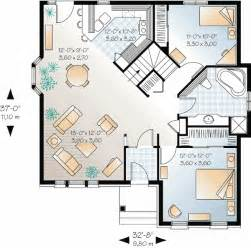 Small Open Floor Plan by Open Floor Small Home Plans Canadian Narrow Lot
