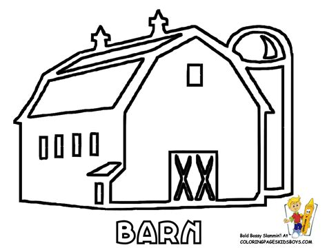 easy barn coloring pages pics for gt simple barn outline