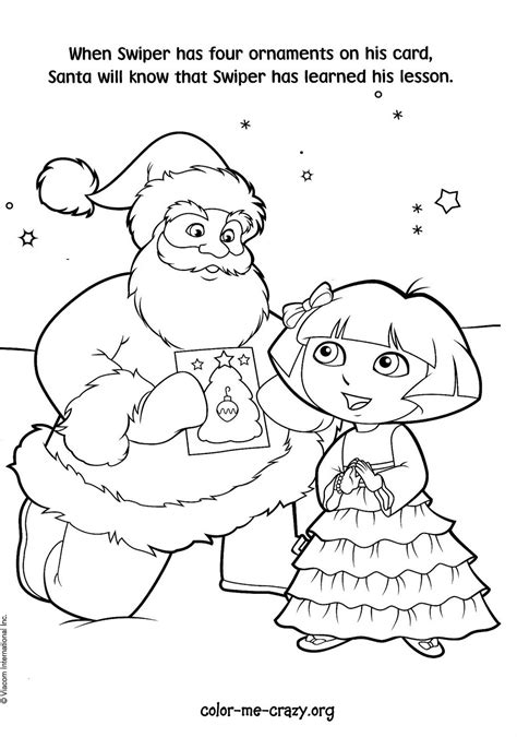 dora winter coloring pages dora christmas coloring pages 12 printable coloring sheets
