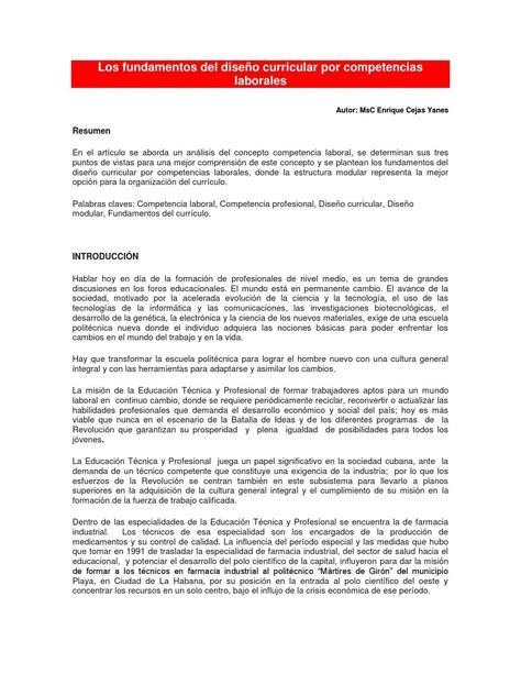 Diseño Curricular Por Competencias Laborales Los Fundamentos Dise 241 O Curricular Por Competencias Laborales By Luis Enrique Pacheco Rocha