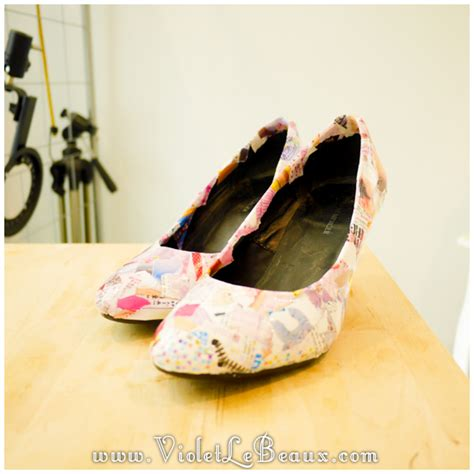 Decoupage Shoes With Paper - how to diy decoupage shoes tutorial violet lebeaux