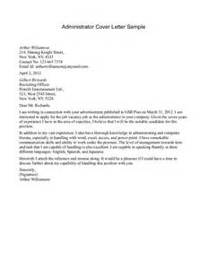 sle cover letter for administrative sle cover letter for admin 28 images resume references