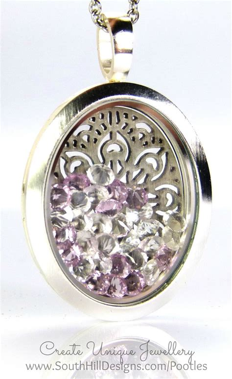 south hill design lockets love how beautiful this sparkle filled oval locket is