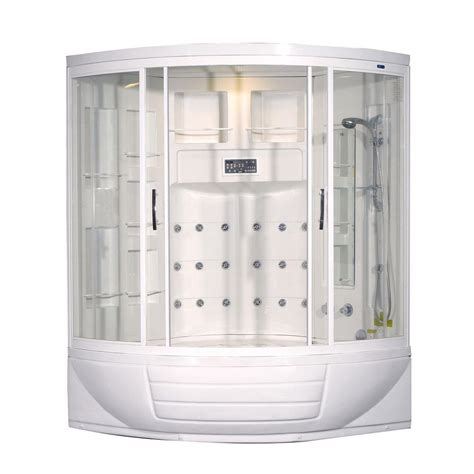 shower kit with bathtub aston zaa216 56 in x 56 in x 87 in corner steam shower