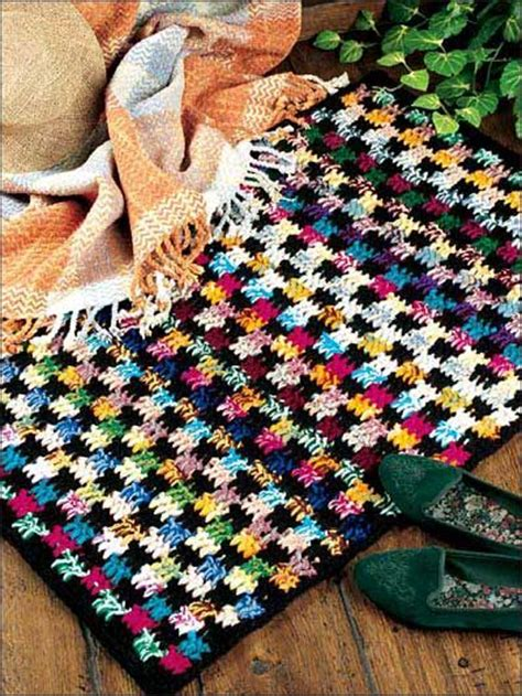 crochet rug pattern with yarn bold and beautiful rug free crochet pattern use two