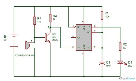 Circuit Diagram Of Clap Switch Using 555 clap switch circuit diagram using ic 555