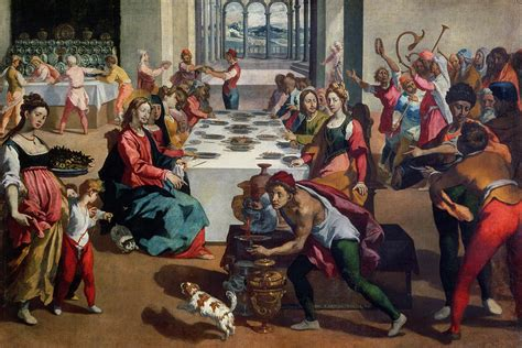 Wedding At Cana Painting by Wedding At Cana Painting By Andrea Boscoli