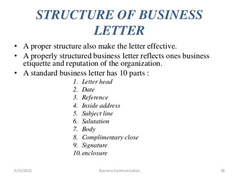 business letter address protocol business communication