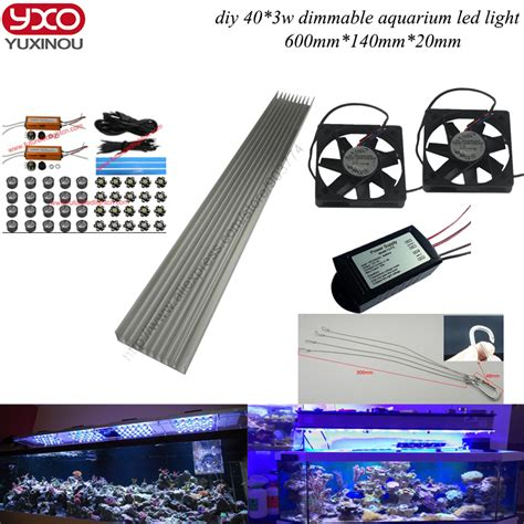 Lu Led Aquarium Diy aliexpress buy dimmable 120w diy aquarium led lights for coral reef growing for coral reef