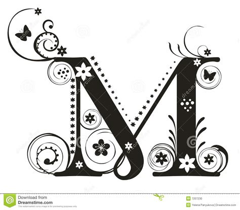M Drawing Design by Letter M Stock Vector Illustration Of Illustration