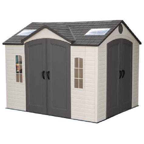 lifetime plastic shed 10 x 8 with entry elbec