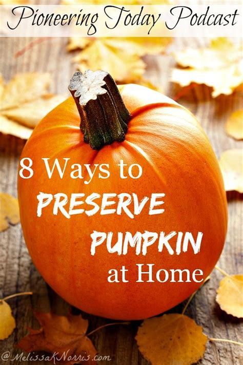 podcast 43 8 ways to preserve pumpkin at home melissa k