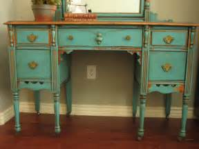 Makeup Vanity Set Near Me European Paint Finishes Chippy Teal Vanity