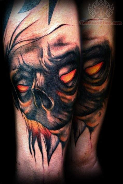 scary face tattoo designs scary