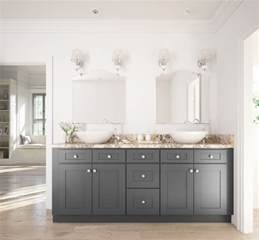 grey shaker ready to assemble bathroom vanities