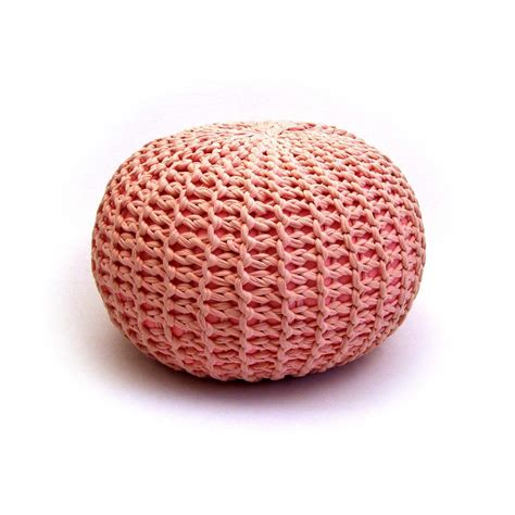 Pouf Ottoman Etsy Large Baby Pink Handmade Knitted Pouf Ottoman Etsy Finds