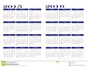 Ferie Zimowe 2018 Kalendarz Calendar 2015 And 2016 Stock Vector Image Of February