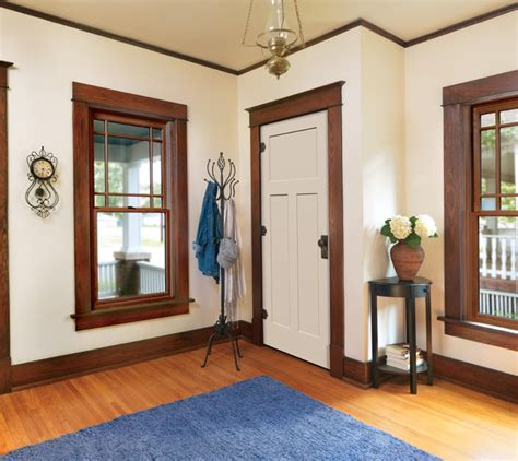 White Interior Doors With Stained Wood Trim Glenview Interior Door Traditional Closet Orange County By Homestory