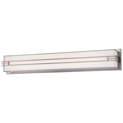 led bathroom vanity light minka lavery level led bath brushed nickel vanity light