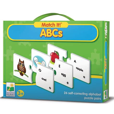 Learning Puzzle abcs match it learning puzzle educational toys planet