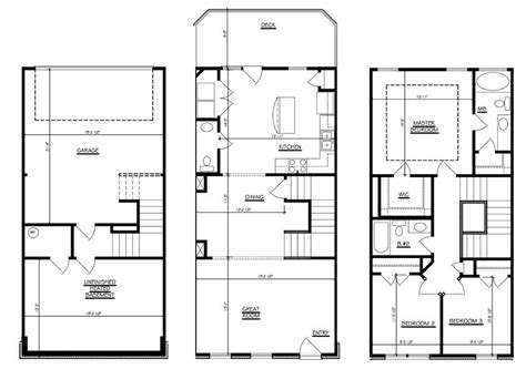 bedroom bath story townhouse house plans 46021 bedroom townhouse floor plans garage story kelsey bass