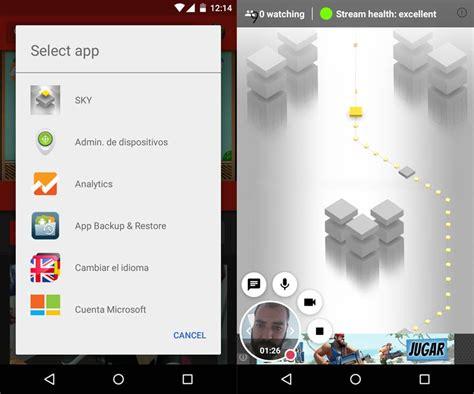 tutorial blogspot youtube emite en directo tus partidas en android con youtube gaming