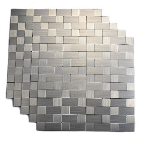 save 41 aluminum peel and stick backsplash for kitchen