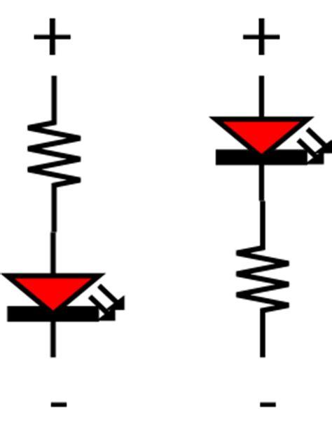 resistor after led light emitting diodes leds