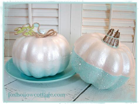 Faux Painting Austin - vintage pink and girly glam a painted pumpkin craft fox hollow cottage