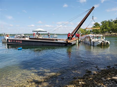 sinking boat duck coast guard salvages missouri duck boat after deadly