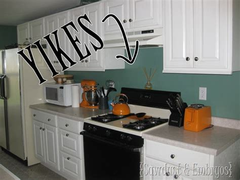 how to paint tile backsplash in kitchen paint your backsplash sawdust and embryos