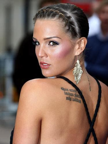celebs with tattoos with tattoos danielle lloyd tattooed