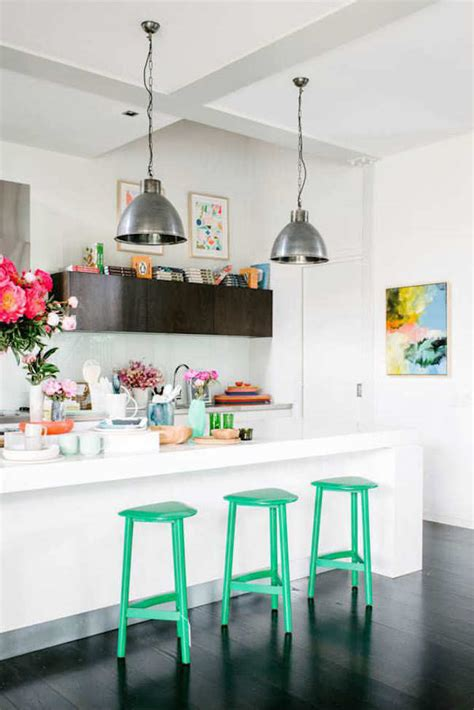 Green Kitchen Bar Stools by 18 Brilliant Kitchen Bar Stools That Add A Serious Pop Of