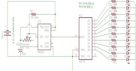 membuat lu led tulisan berjalan membuat led berjalan dengan ic 4017 shadow attacker007