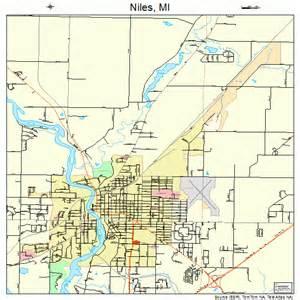 Niles Michigan Map niles michigan street map 2657760
