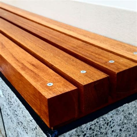 timber bench seating landscaping benches and concrete bench on pinterest
