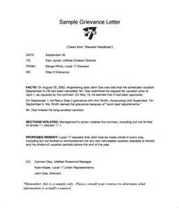Employment Grievance Letter Template Grievance Letter 11 Documents In Pdf Word
