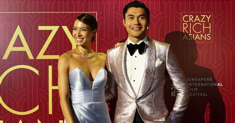 d liv lo henry golding and wife liv lo at crazy rich asians