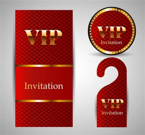 vip card template vip invitation card template sets shiny golden free