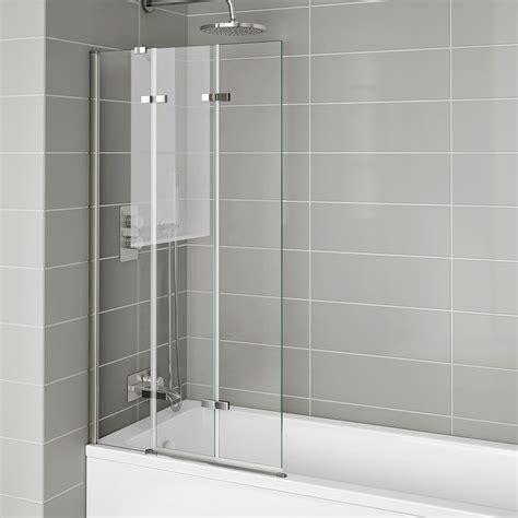 800mm folding bath shower screen luxury modern easy clean