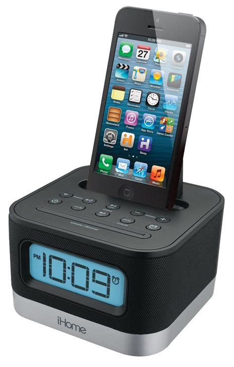 ihome ipl8bn stereo fm clock radio with